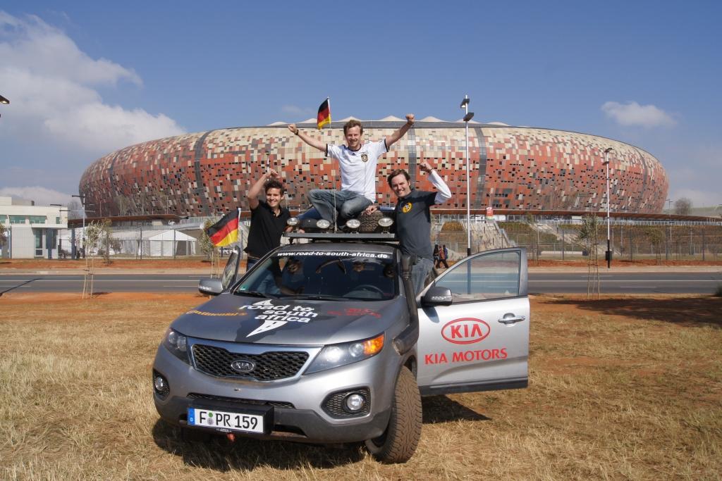 Zwei Monate dauerte die Tour von Hamburg nach Johannesburg.