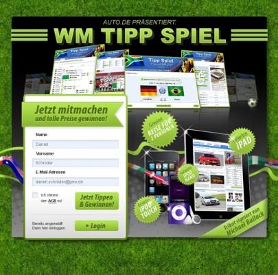 auto.de WM-Tippspiel: Das große Gewinnspiel zur Fußballweltmeisterschaft 2010
