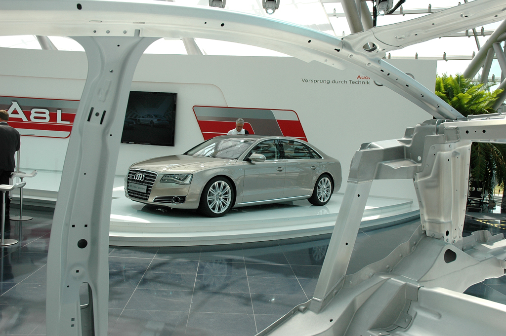 Audi A8 lang: Bei der Präsentation im