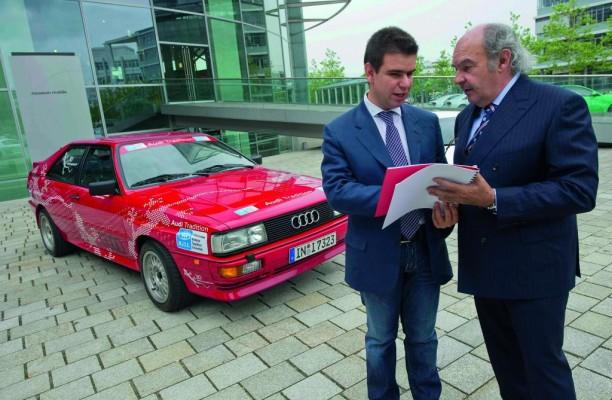 Audi unterstützt Heidelberg Historic und blinden Beifahrer