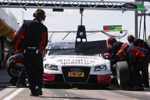 DTM auf dem Norisring: Prominenz und Audis R15 TDI zu Gast