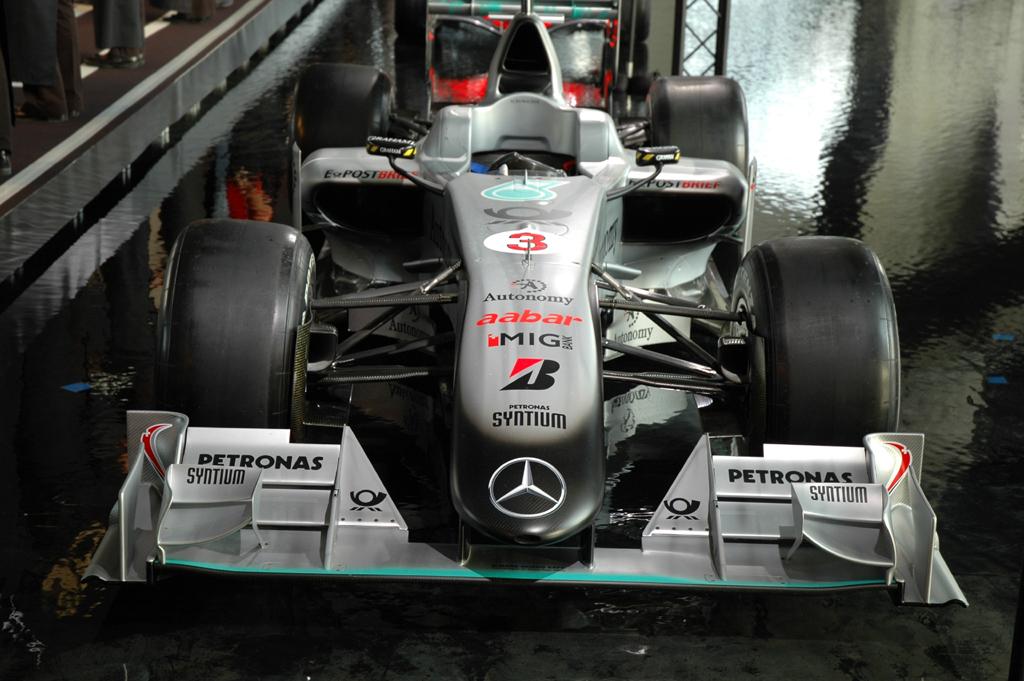 Der aktuelle Formel-1-Rennwagen des Mercedes/Petronas-Teams.