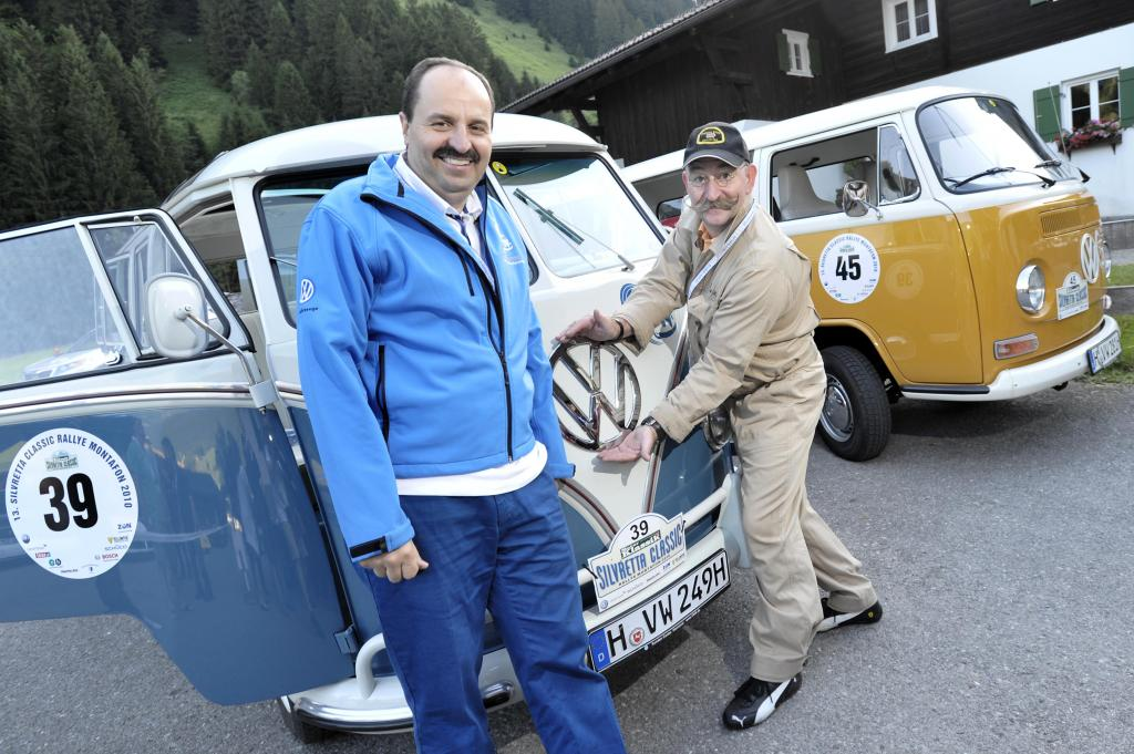 Lafer startet im Bulli bei der ''Silvretta Classic''
