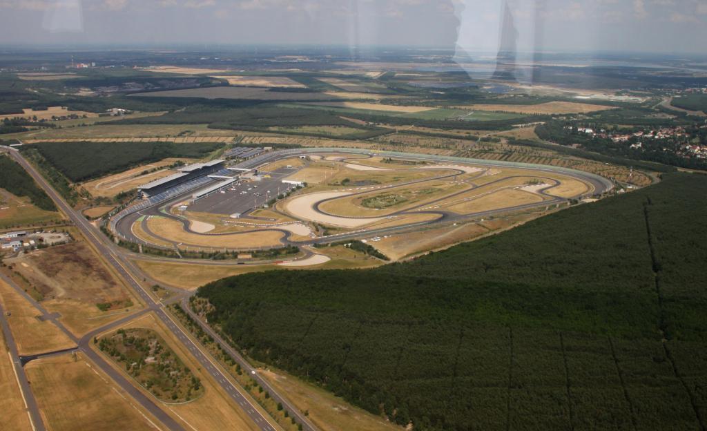 Luftaufnahme vom Lausitzring.