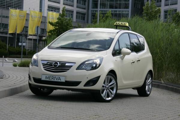 Opel Meriva mit guten Voraussetzungen für den Taxi-Einsatz