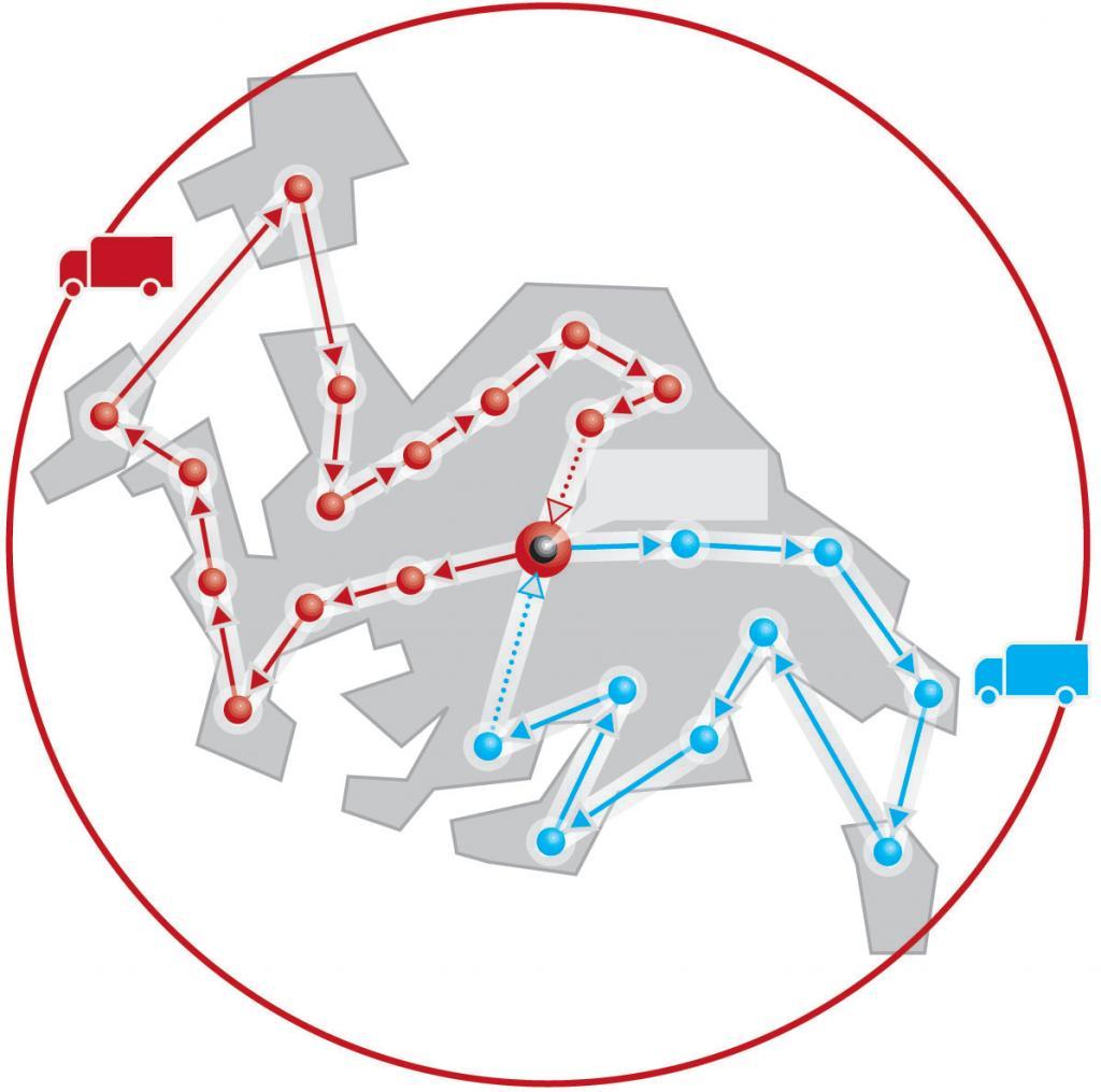 Optimale Tourenplanung mit der neuen Version von PTV Intertour.