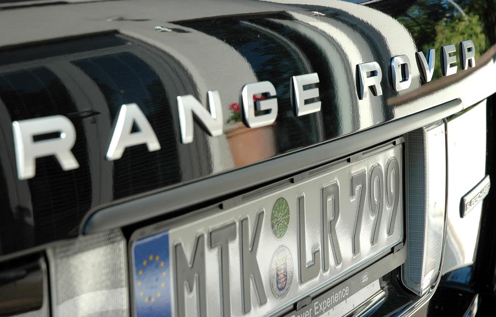 Range Rover Supercharged: Modellschriftzug an der Heckklappe.