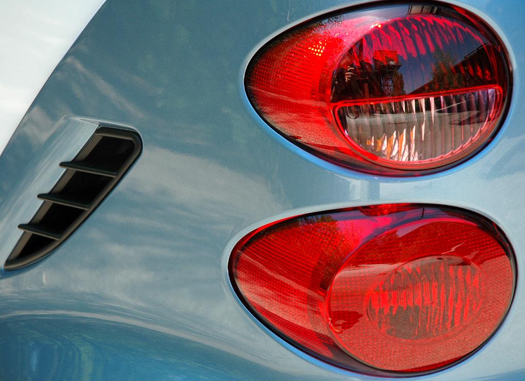 Smart Fortwo: Detailaufnahme von der hinteren Fahrerseite mit Leuchteinheit.
