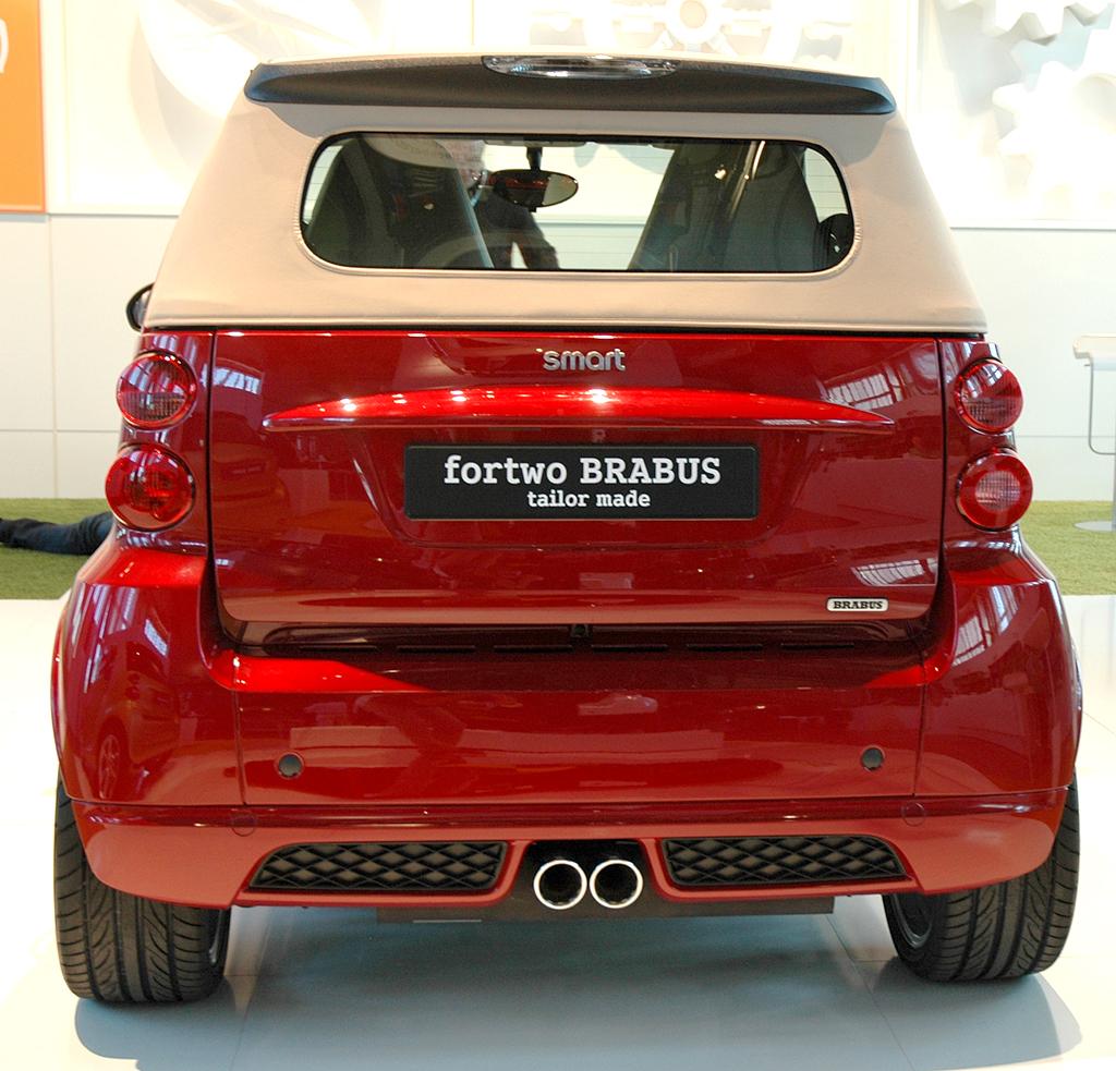 Smart Fortwo: Heckansicht des Brabus-Cabrio-Sondermodells