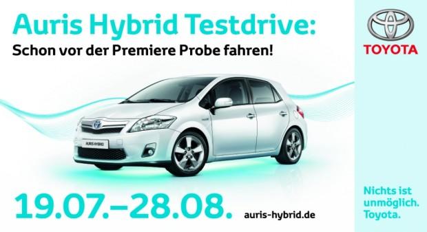 Toyota geht mit dem Auris Hybrid auf Sommertour