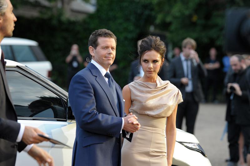 Victoria Beckham mit Gerry McGovern, Range Rover Design Director