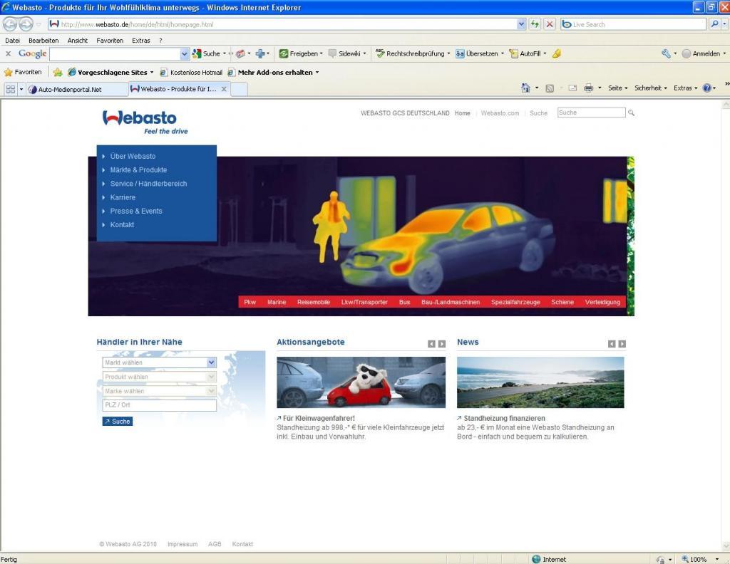Webasto überarbeitet Online-Auftritt