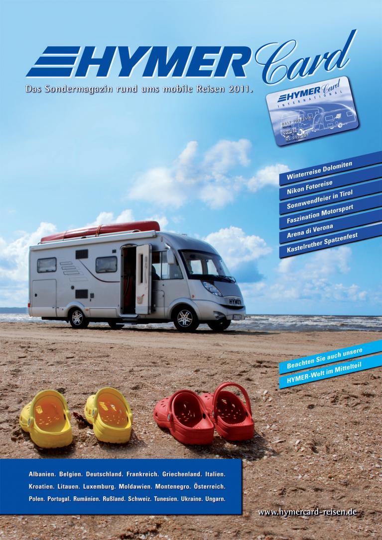 ''Hymer-Card-Reisen''-Katalog 2011 ist erschienen