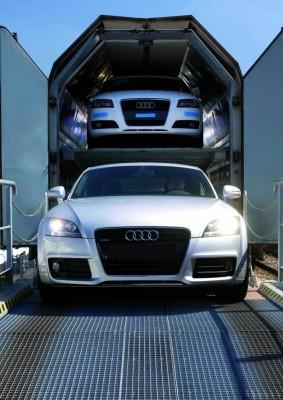 Audi-Modelle künftig per Öko-Strom auf der Schiene unterwegs