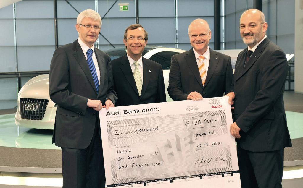 Audi spendet für Hospiz in Bad Friedrichshall