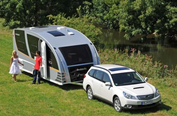 Caravan-Salon 2010: Subaru empfiehlt ''Das Auto für den Caravaner''