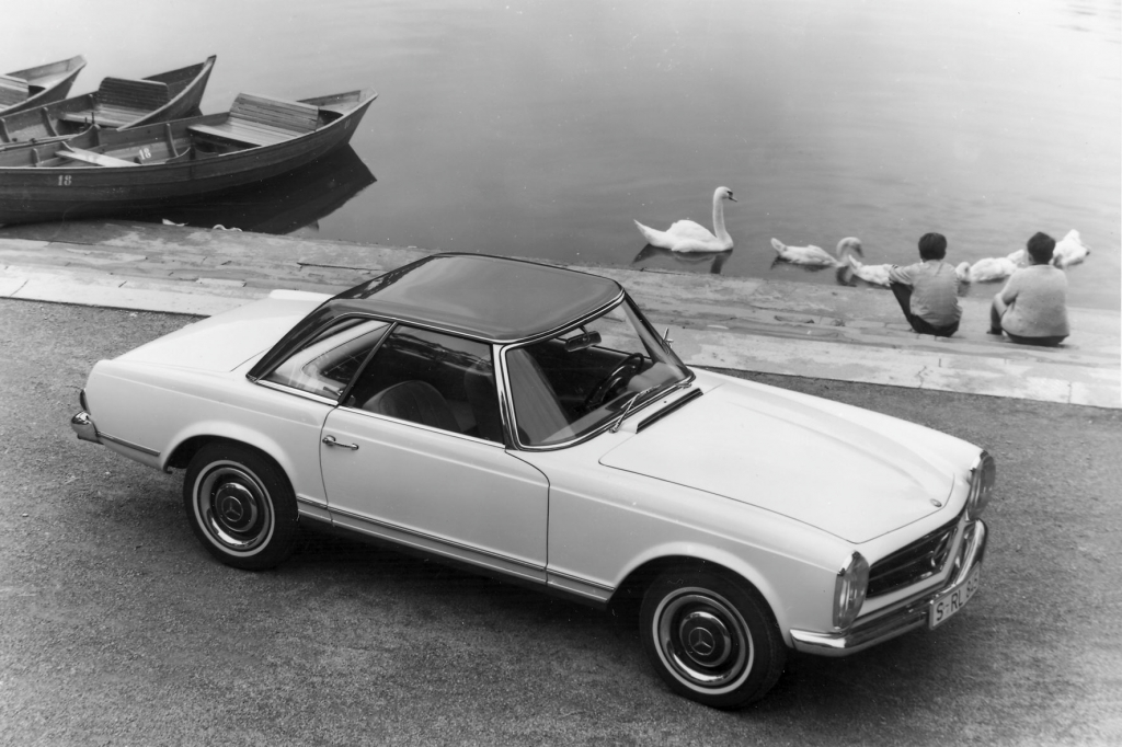 Das Pagodendach des Mercedes SL gab ihm seinen Spitznamen.