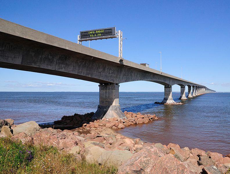 Die Confederations Bridge bei Prince Edward Island
