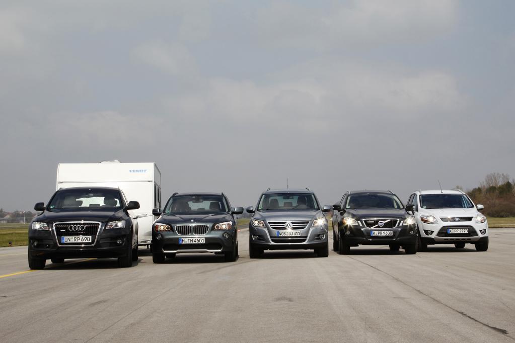 Die getesteten Mittelklasse-SUVs mit Anhänger-ESP.