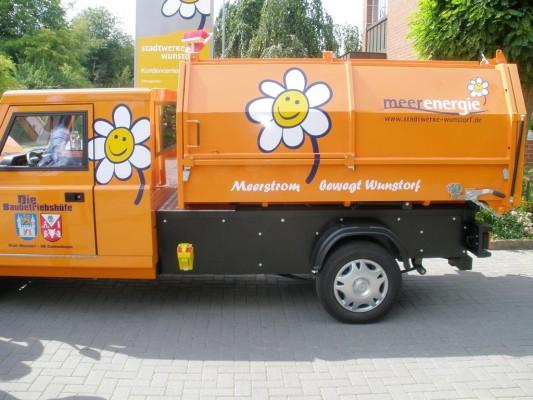 Ecocraft Ecocarrier jetzt auch als Müllsammelfahrzueg