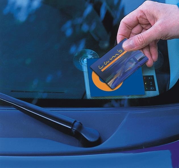 Geöffnet wird das Auto mit einer Mitglieder-Chipkarte, Bild von: Cambio