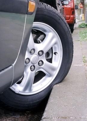 Gefahr durch geschlauchte Reifen