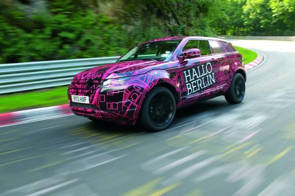 Land Rover testet Range Rover Evoque auf dem Nürburgring