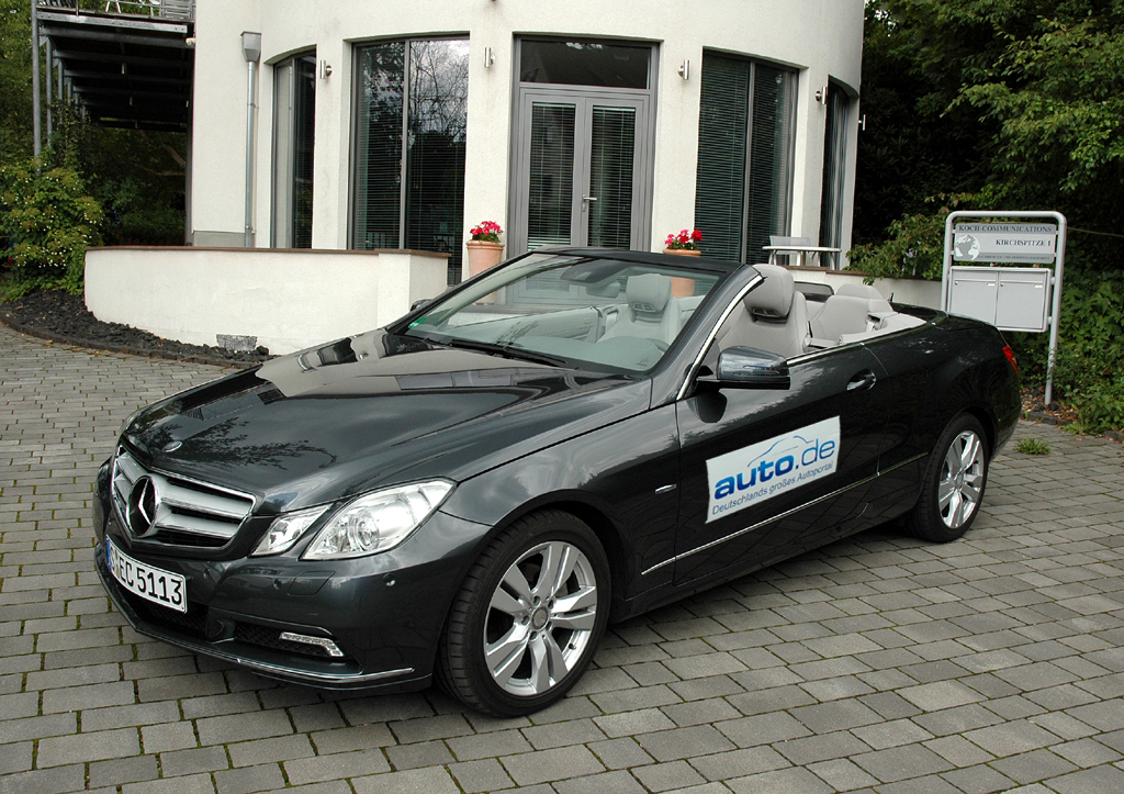 Mercedes E-Klasse, hier als 170-PS-Turbodiesel-Cabrio.