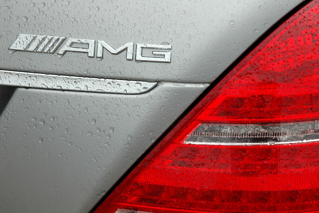 Mercedes S63 AMG: Hintere Leuchteinheit mit Markenschriftzug.