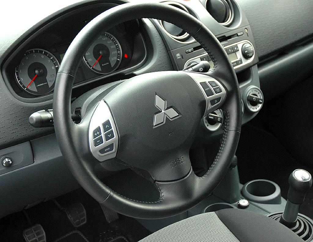 Mitsubishi Colt Autogas: Das nüchtern-funktionelle Cockpit wirkt übersichtlich.