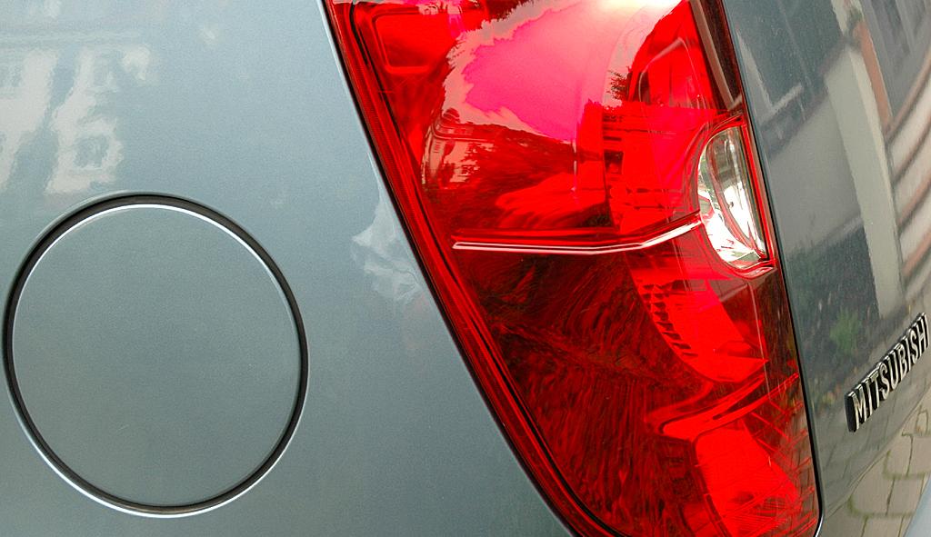Mitsubishi Colt Autogas: Hintere Leuchteinheit.