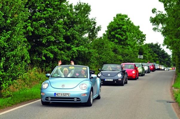 New Beetle-Fahrer aus ganz Europa treffen sich