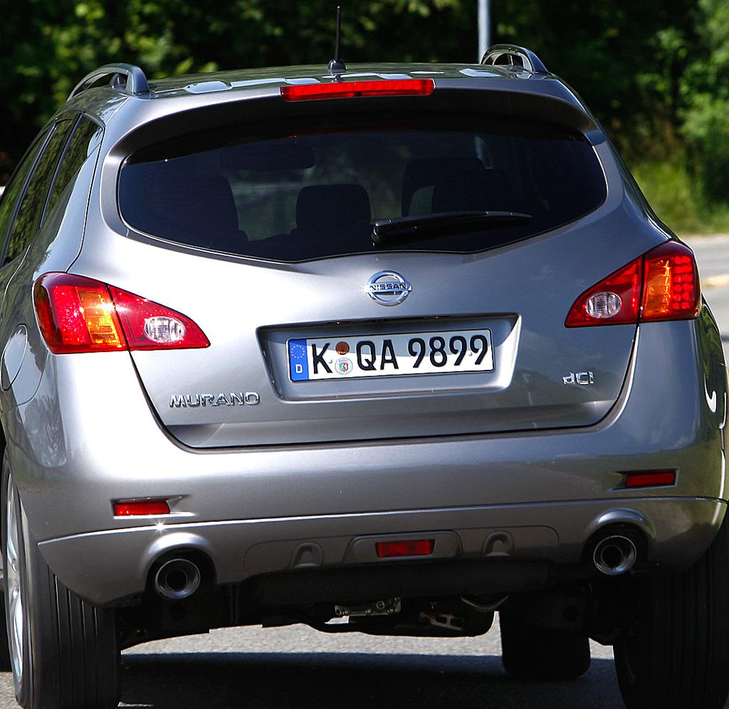 Nissan Murano Diesel: Blick auf die Heckpartie.