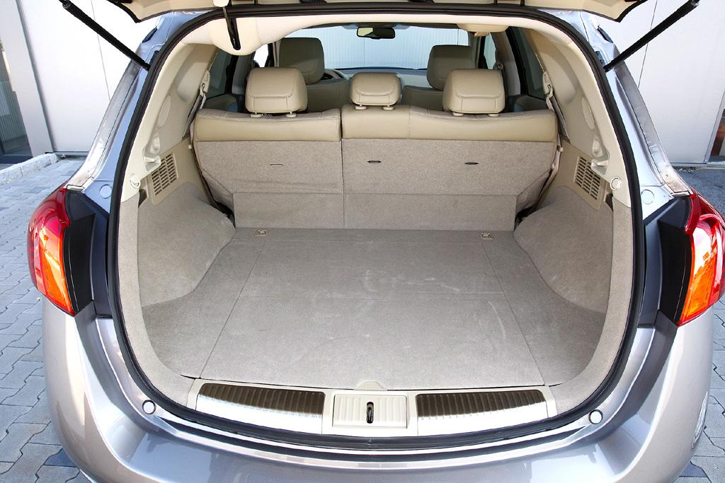 Nissan Murano Diesel: Blick in den Kofferraum.
