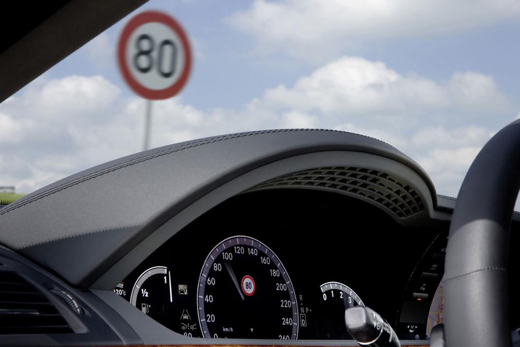 Sicher ist sicher: Auch die Temposchild-Erkennung ist inzwischen möglich.