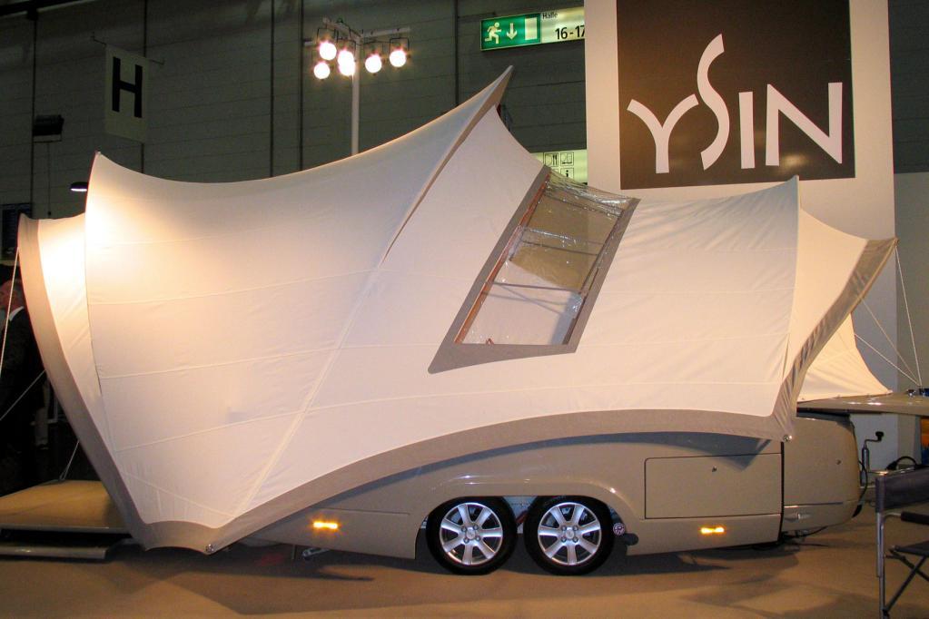 Sieht aus wie die Oper in Sydney, ist aber ein Caravan.