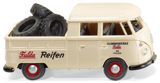 """VW T 1 """"Fulda Reifen"""" von Wiking."""