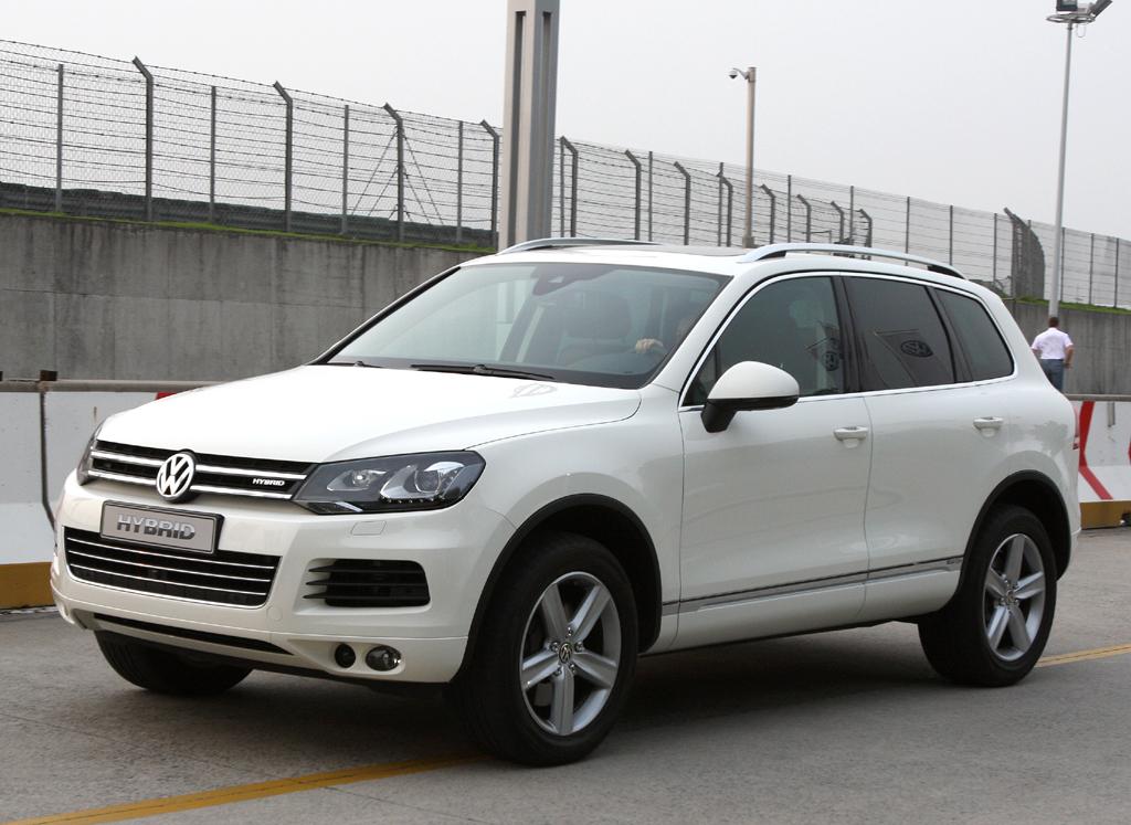 Zukunft des Autos: VW-Hybridmodell Touareg bei der Präsentation in China.