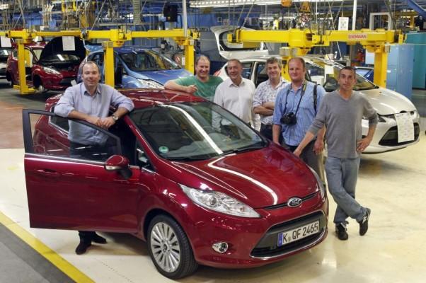 ''Fiesta World Tour'' zu Besuch im Ford-Werk