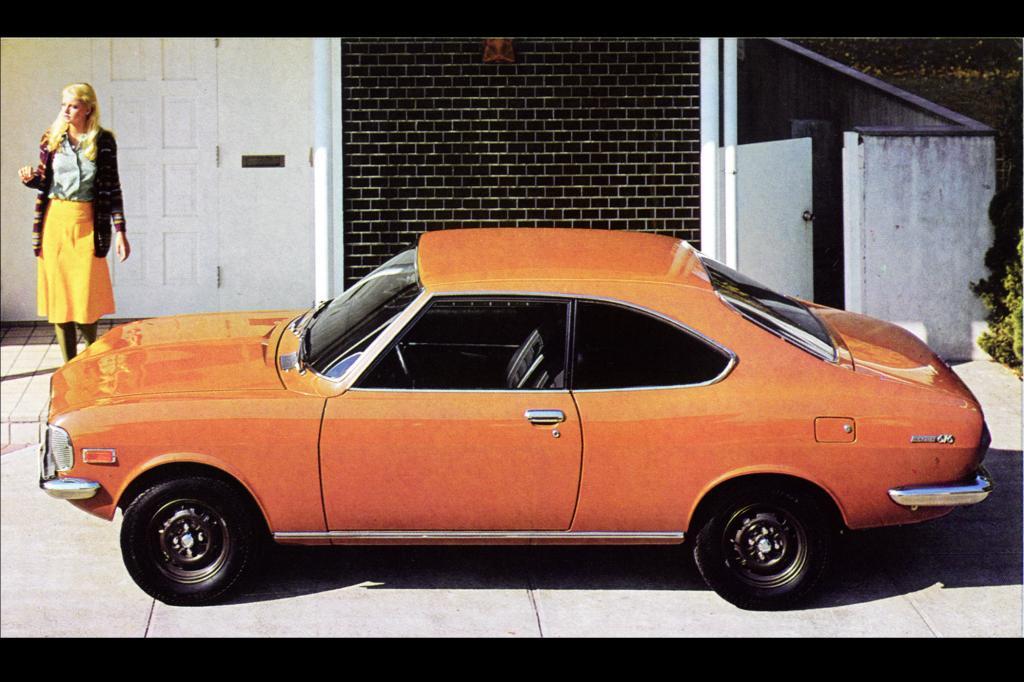 Das Mazda 616 Coupé mit Hubkolbenmotor von 1977