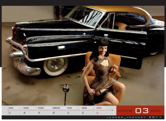 Der Girls & legendary US-Cars Kalender 2011 ist echt schick, Foto von: Carlos Kella