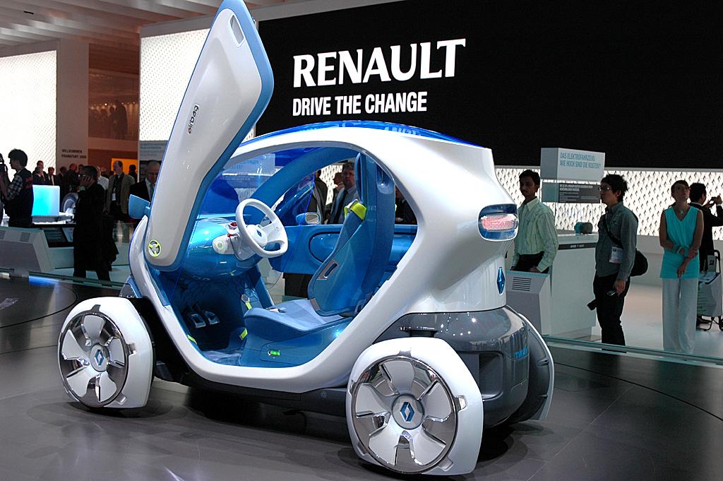 Der Twizy ZE, hier noch als Studie, wird Renaults drittes Elektrofahrzeug sein.