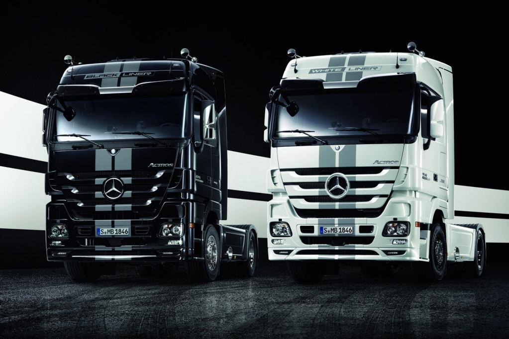 Die neuen Black Liner/White Liner von Mercedes verfügen serienmäßig über den Active Brake Assist 2.