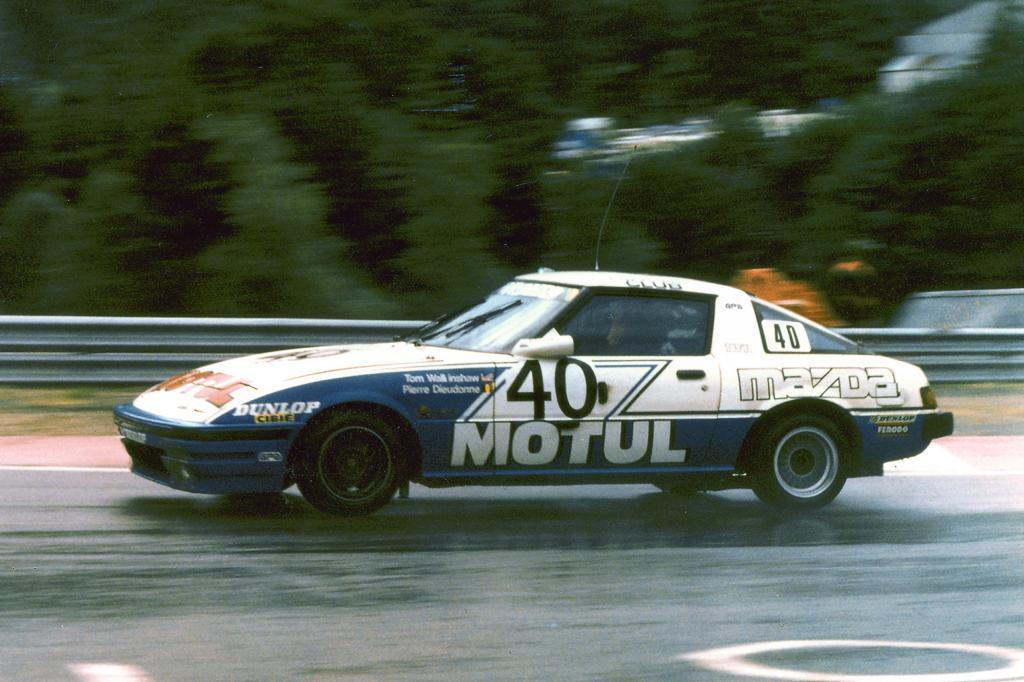 Ein RX-7-Rennwagen von 1981