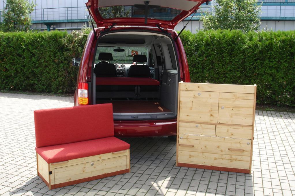 Für den VW Caddy Maxi gibt es jetzt Bio-Möbel.