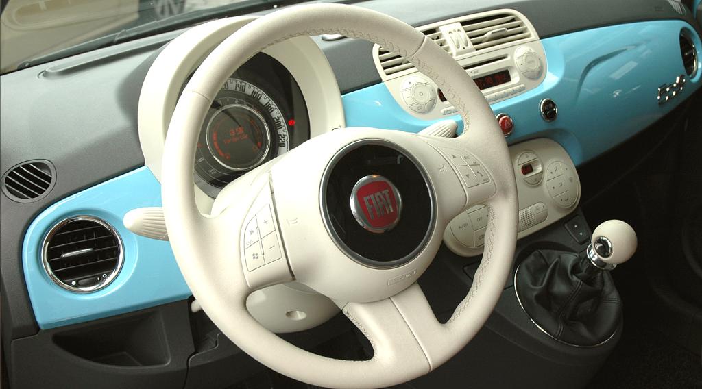 Fiat 500 TwinAir: Blick ins Innere.