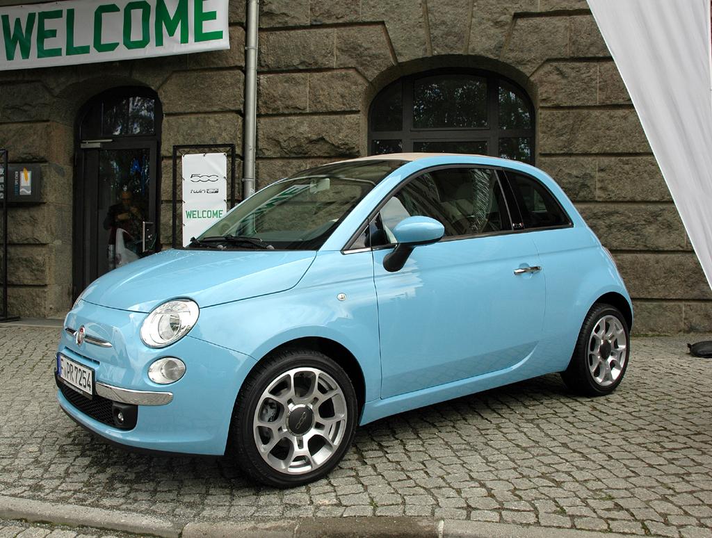 Fiats neuer 500 TwinAir, hier als Cabrio.
