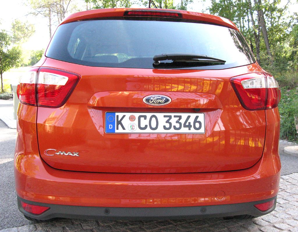 Ford C-Max: Blick auf die Heckpartie des Fünfsitzers.