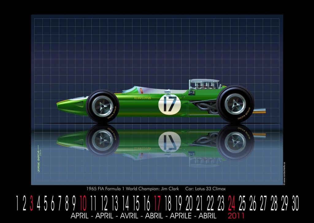 Formel 1 trifft Kunst: World Champion Cars Kalender 2011 von Jorge Garcia