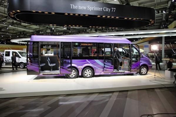 IAA Nutzfahrzeuge: Mercedes-Benz Sprinter City 77 schließt Lücke